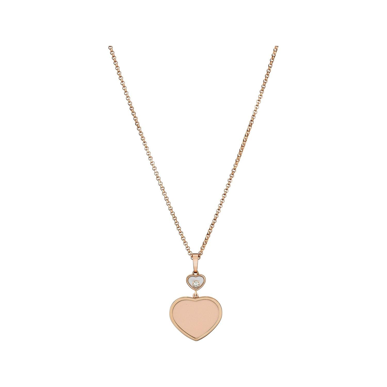Pendentif Chopard Happy Hearts en or rose et diamant