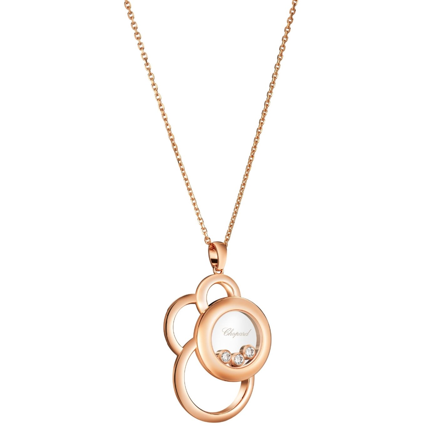 Collier Chopard Happy Dreams en or rose et diamants vue 2