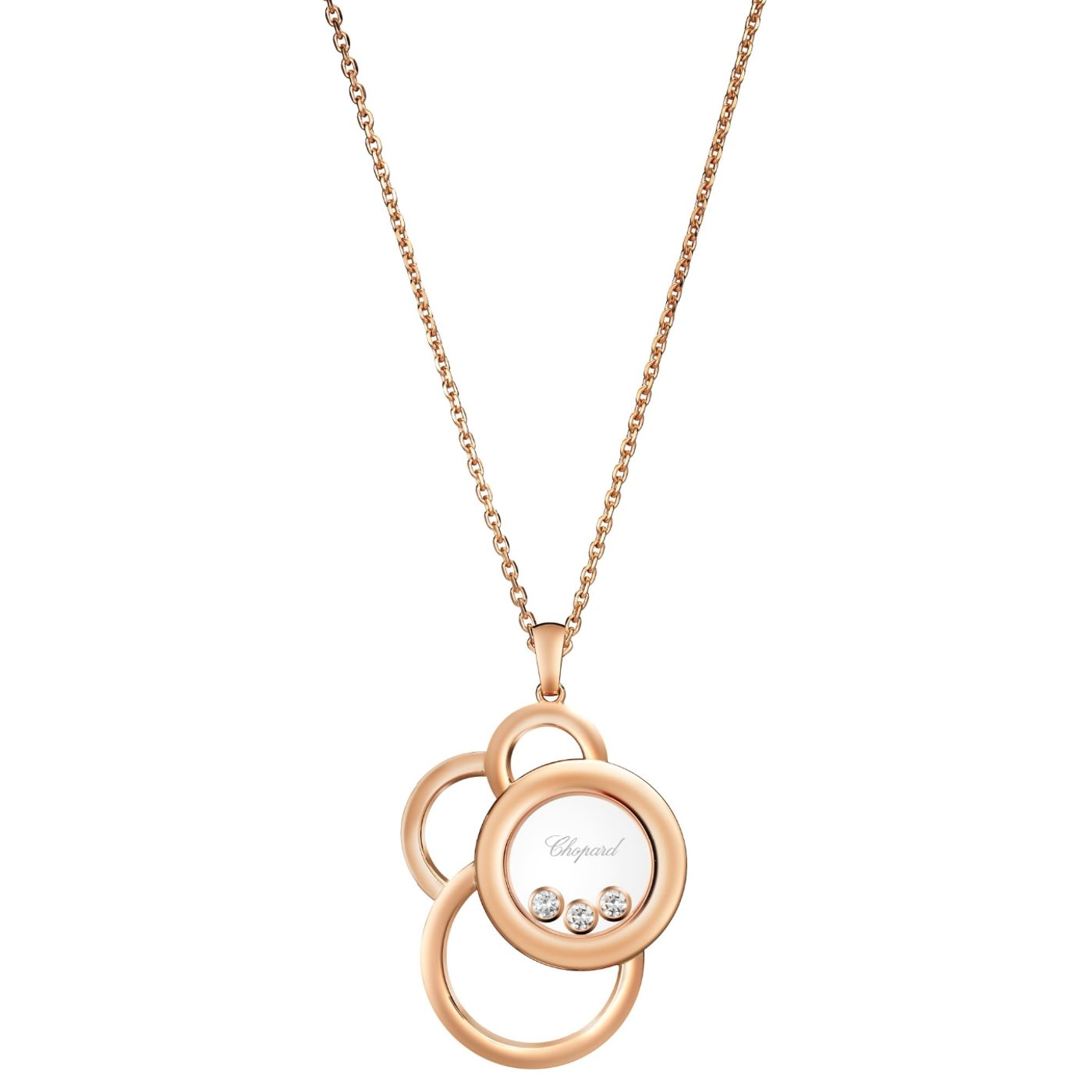 Collier Chopard Happy Dreams en or rose et diamants vue 1