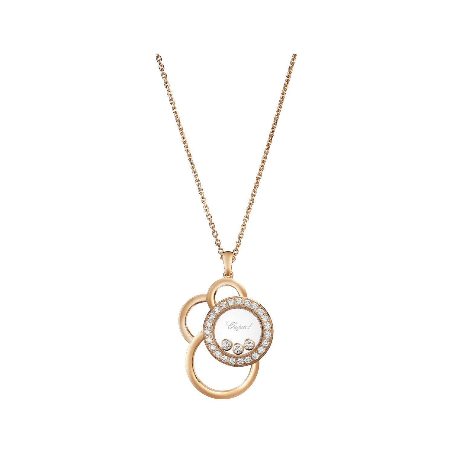 Pendentif Chopard Happy Dreams en or rose et diamants
