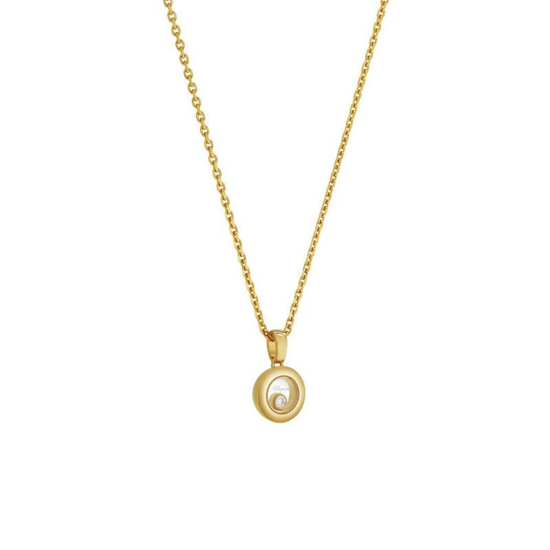 Collier Chopard Happy Diamonds Icons en or jaune vue 2