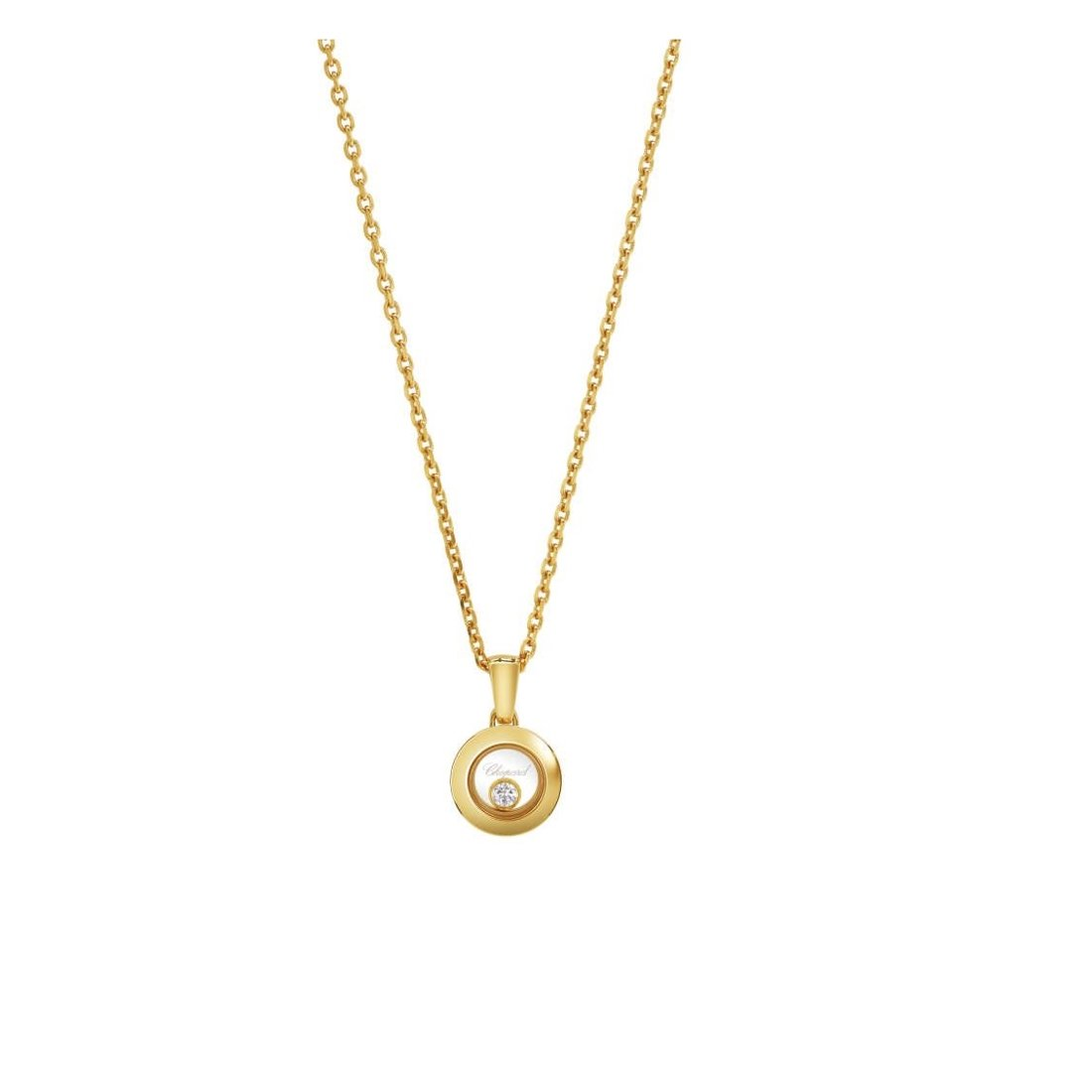 Collier Chopard Happy Diamonds Icons en or jaune vue 1