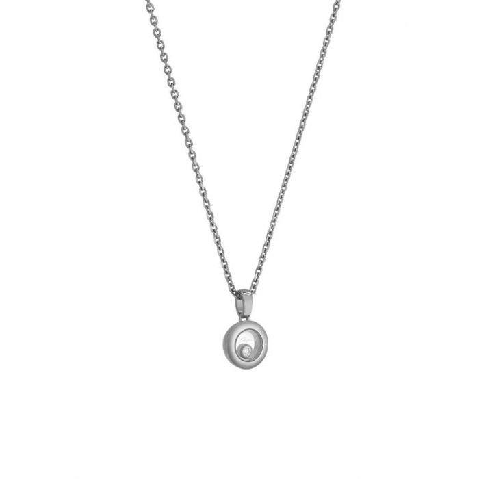 Pendentif Chopard Happy Diamonds Icons en or blanc et diamant vue 3