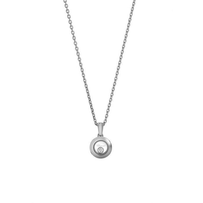 Pendentif Chopard Happy Diamonds Icons en or blanc et diamant vue 1