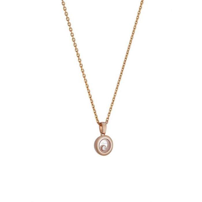 Pendentif Chopard Happy Diamonds Icons en or rose et diamant vue 3