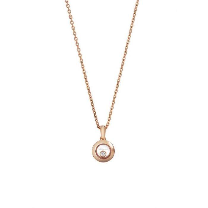 Pendentif Chopard Happy Diamonds Icons en or rose et diamant vue 1