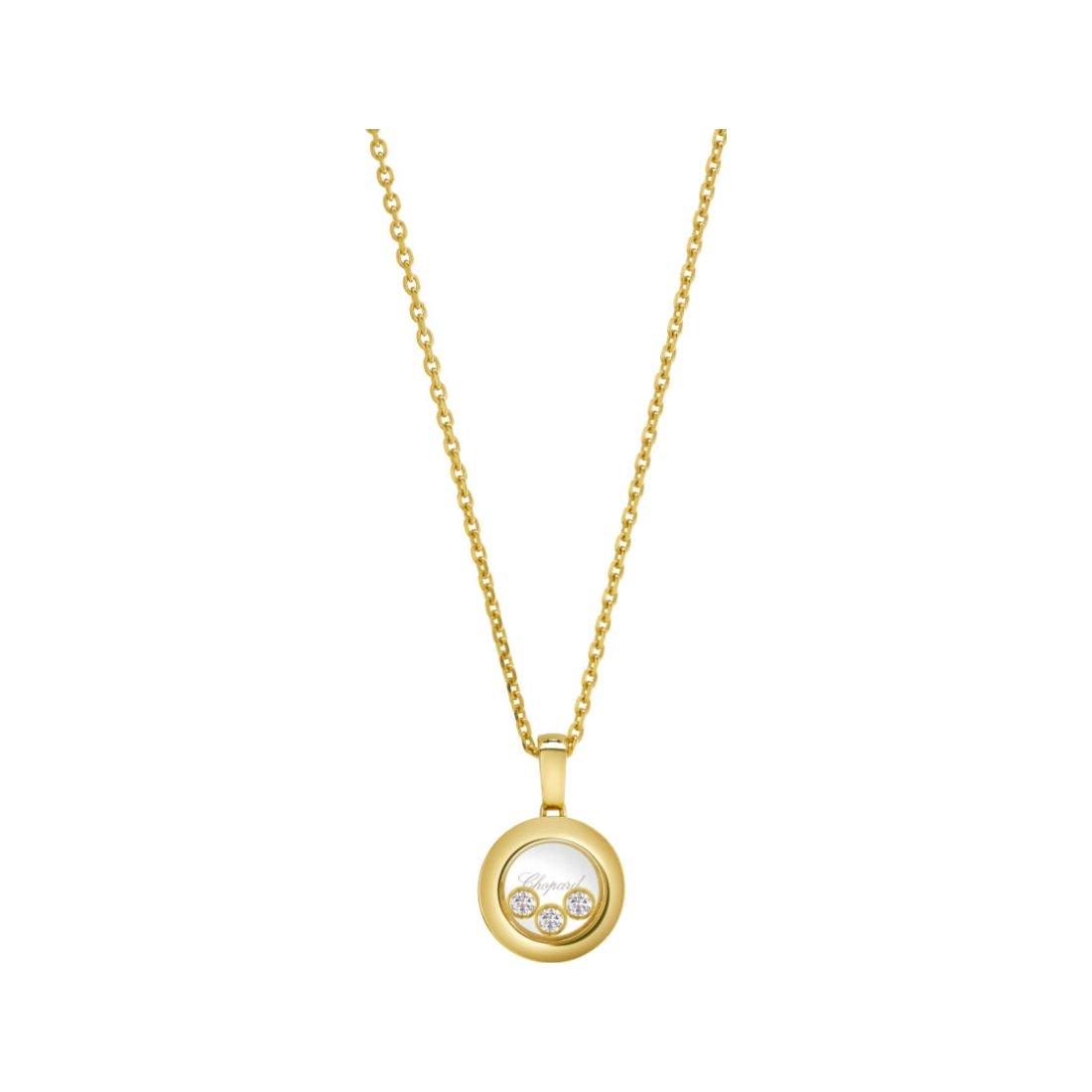 Pendentif Chopard Happy Diamonds en or jaune et diamants