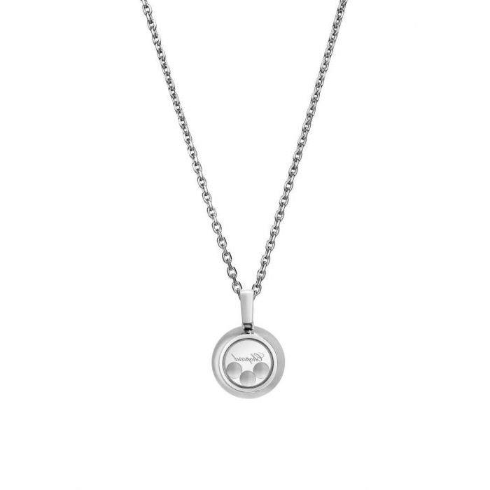 Pendentif Chopard Happy Diamonds Icons en or blanc et diamants vue 2
