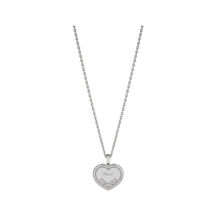 Pendentif Chopard Happy Diamonds en or blanc et diamants
