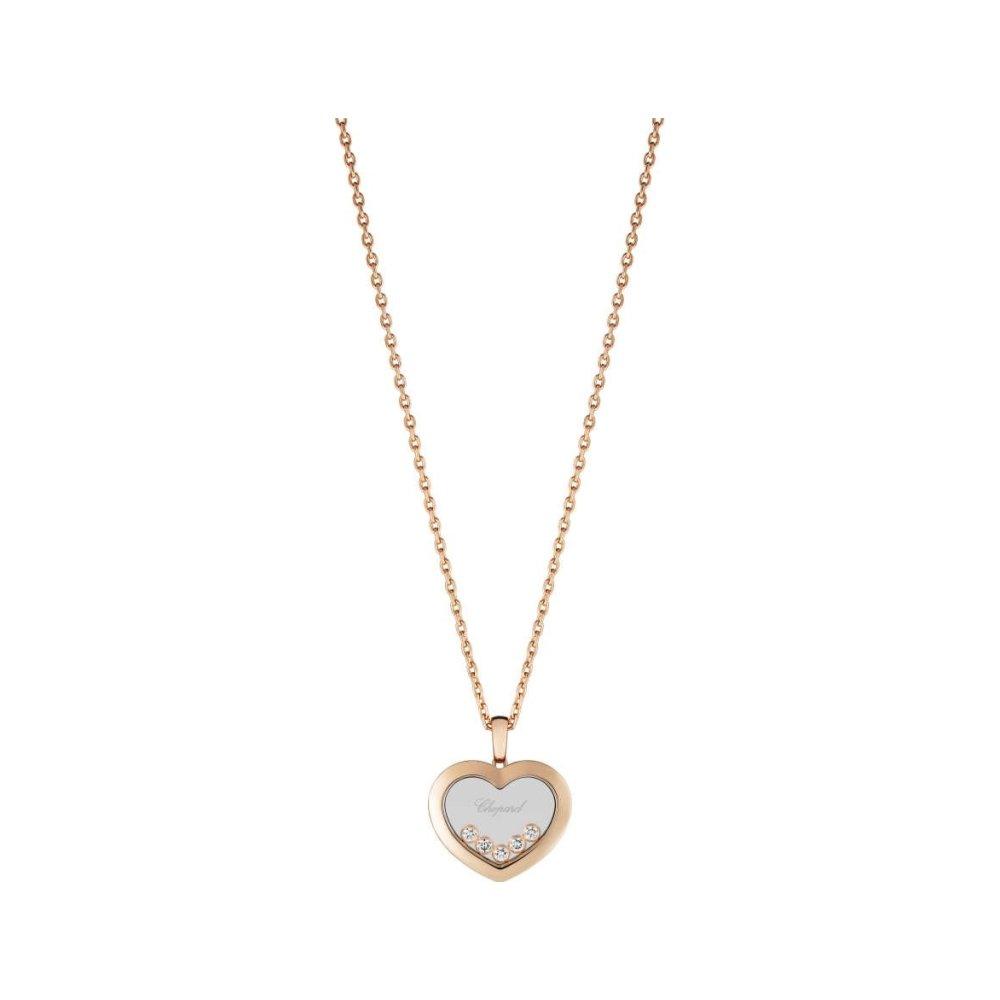 Pendentif Chopard Happy Diamonds en or rose et diamants