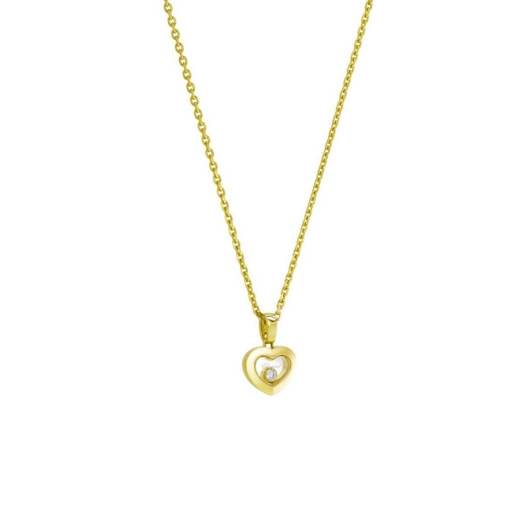 Collier Chopard Happy Diamonds Icons en or jaune et diamants vue 2