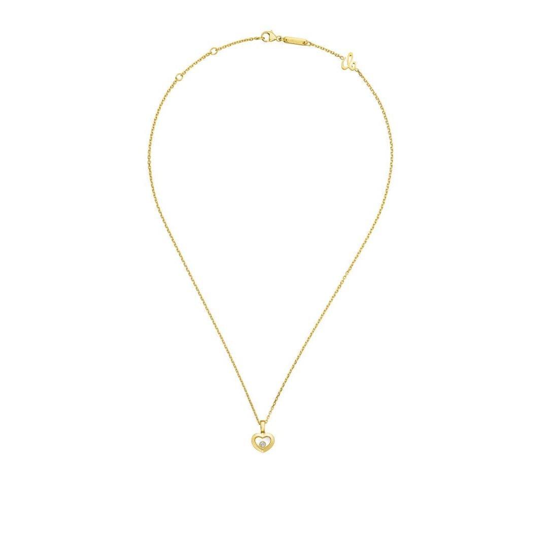Collier Chopard Happy Diamonds Icons en or jaune et diamants vue 3