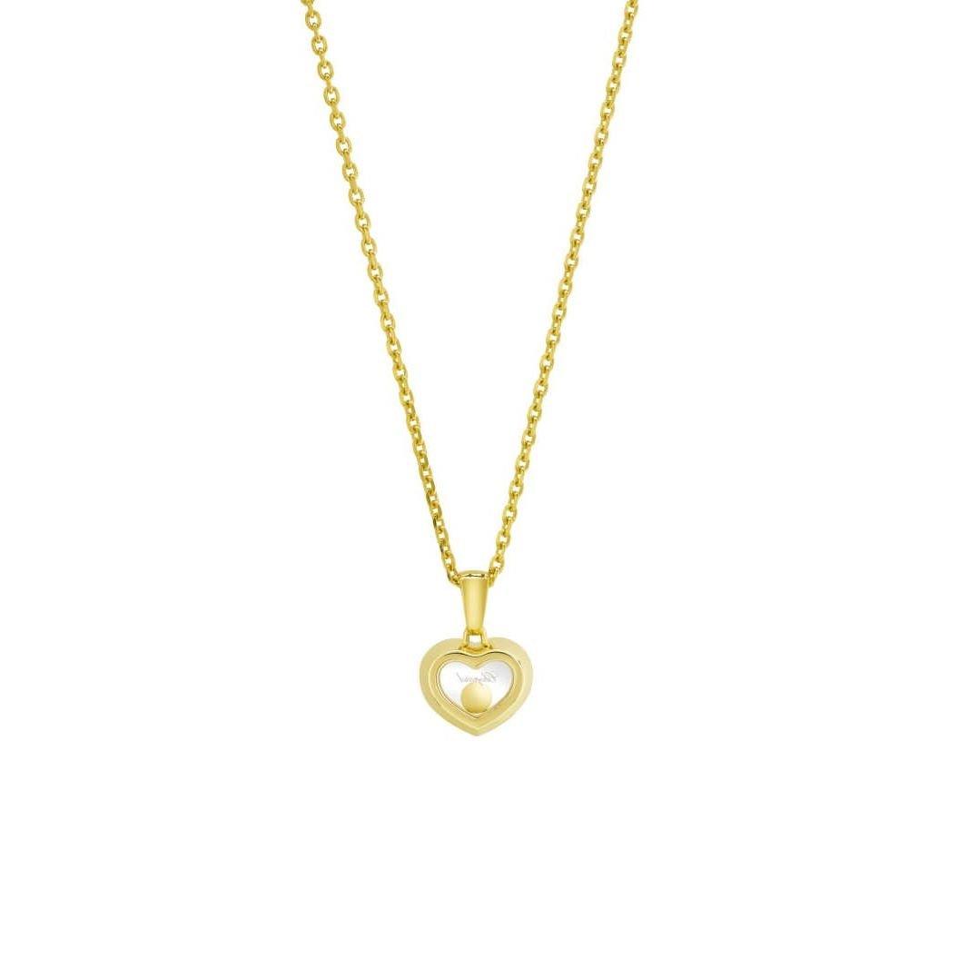 Collier Chopard Happy Diamonds Icons en or jaune et diamants vue 4
