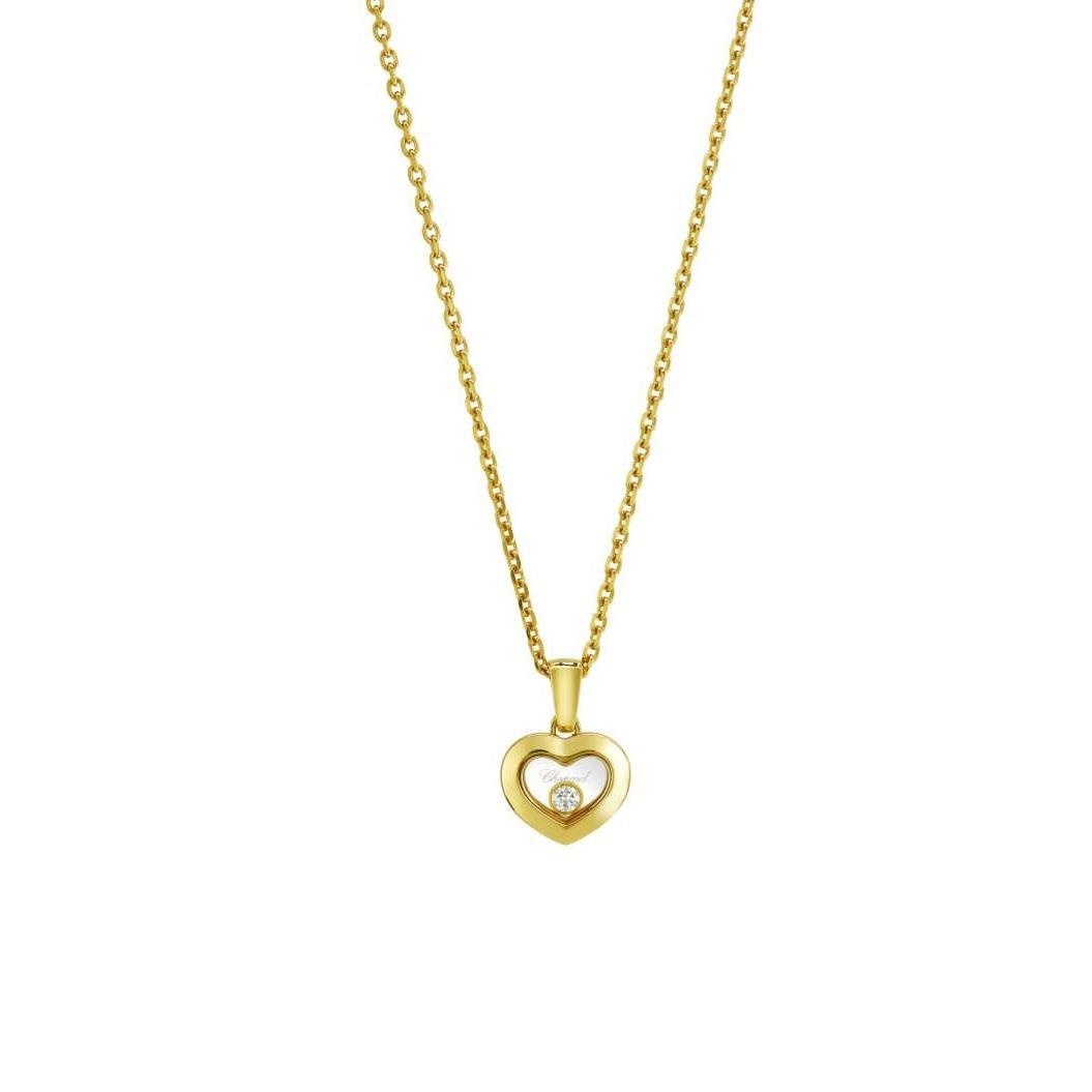 Collier Chopard Happy Diamonds Icons en or jaune et diamants vue 1