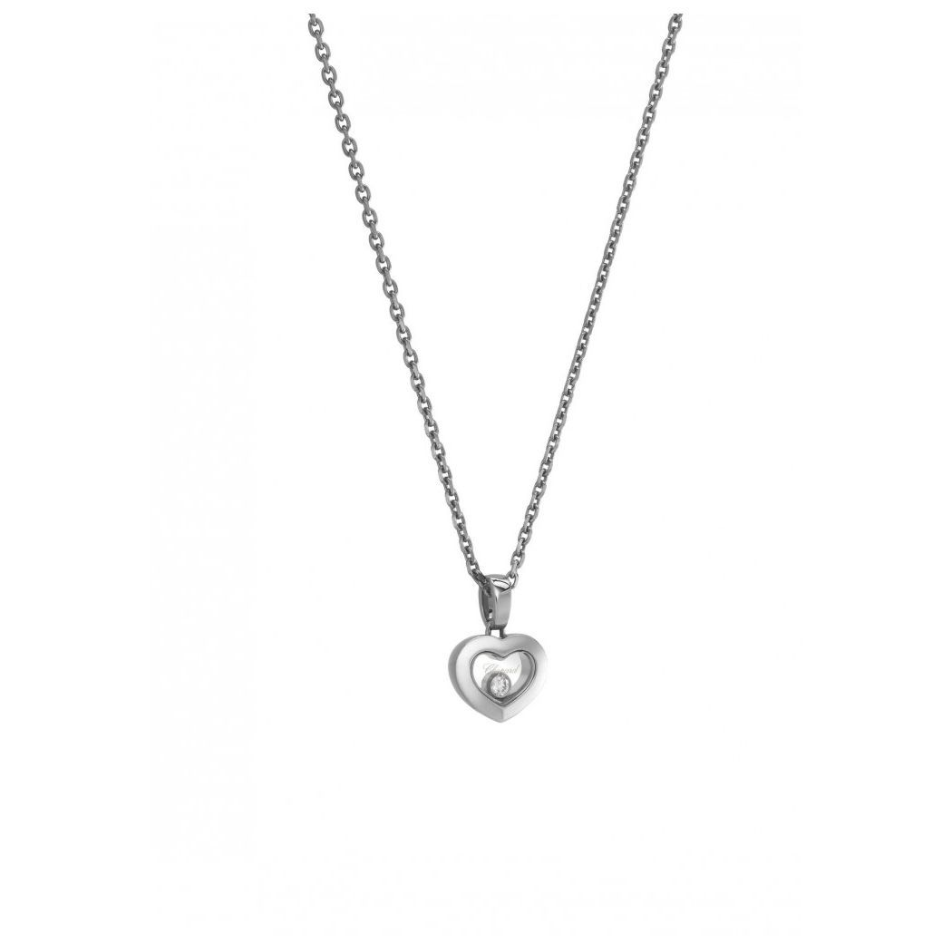 Pendentif Chopard Happy Diamonds Iconsen or blanc et diamant vue 2
