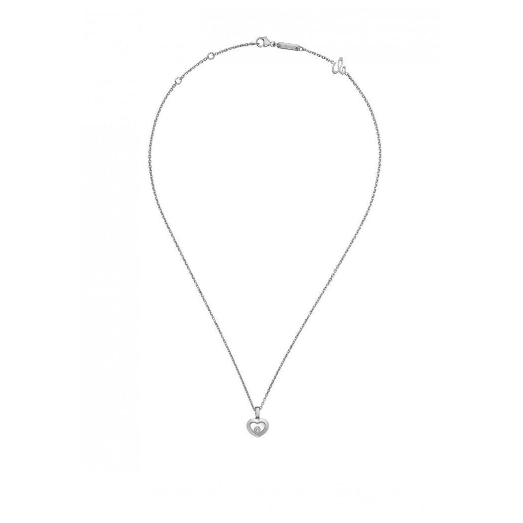 Pendentif Chopard Happy Diamonds Iconsen or blanc et diamant vue 3