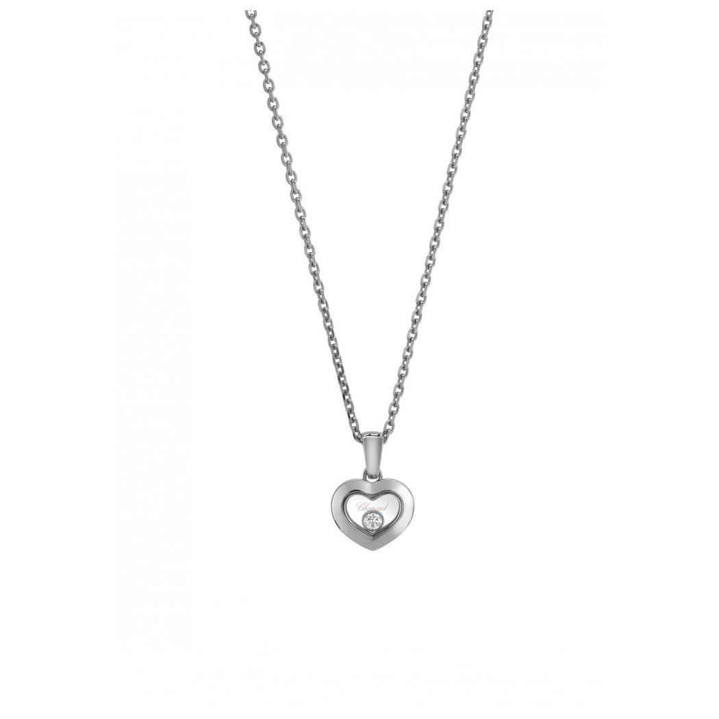 Pendentif Chopard Happy Diamonds Iconsen or blanc et diamant vue 1