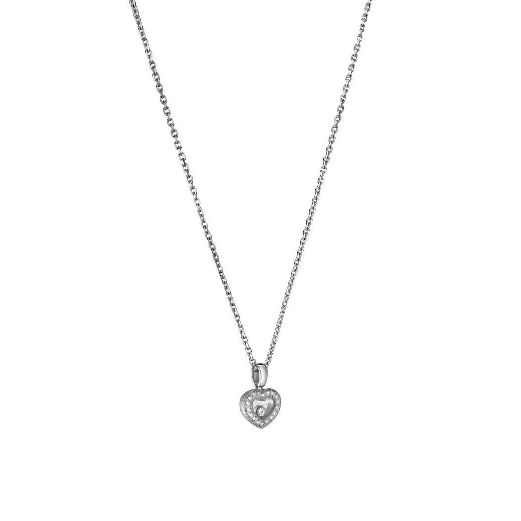 Collier Chopard Happy Diamonds Icons en or blanc et diamants vue 2