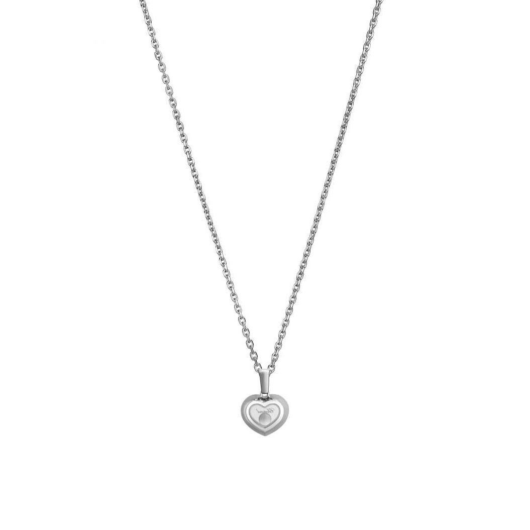 Collier Chopard Happy Diamonds Icons en or blanc et diamants vue 4