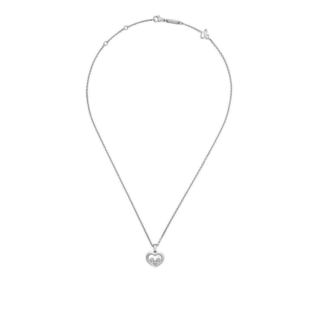 Collier Chopard Happy Diamonds Icons en or blanc et diamants vue 3