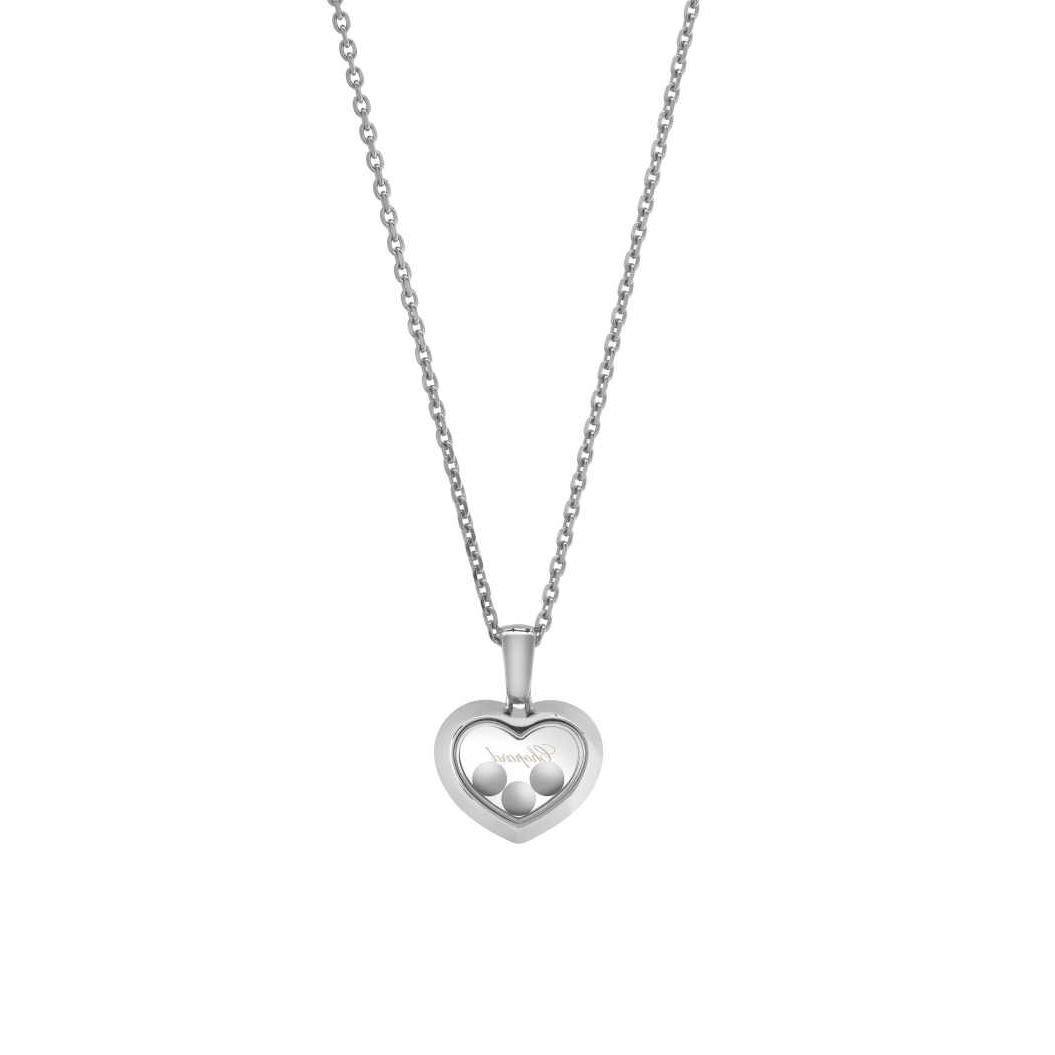 Collier Chopard Happy Diamonds Icons en or blanc et diamants vue 4