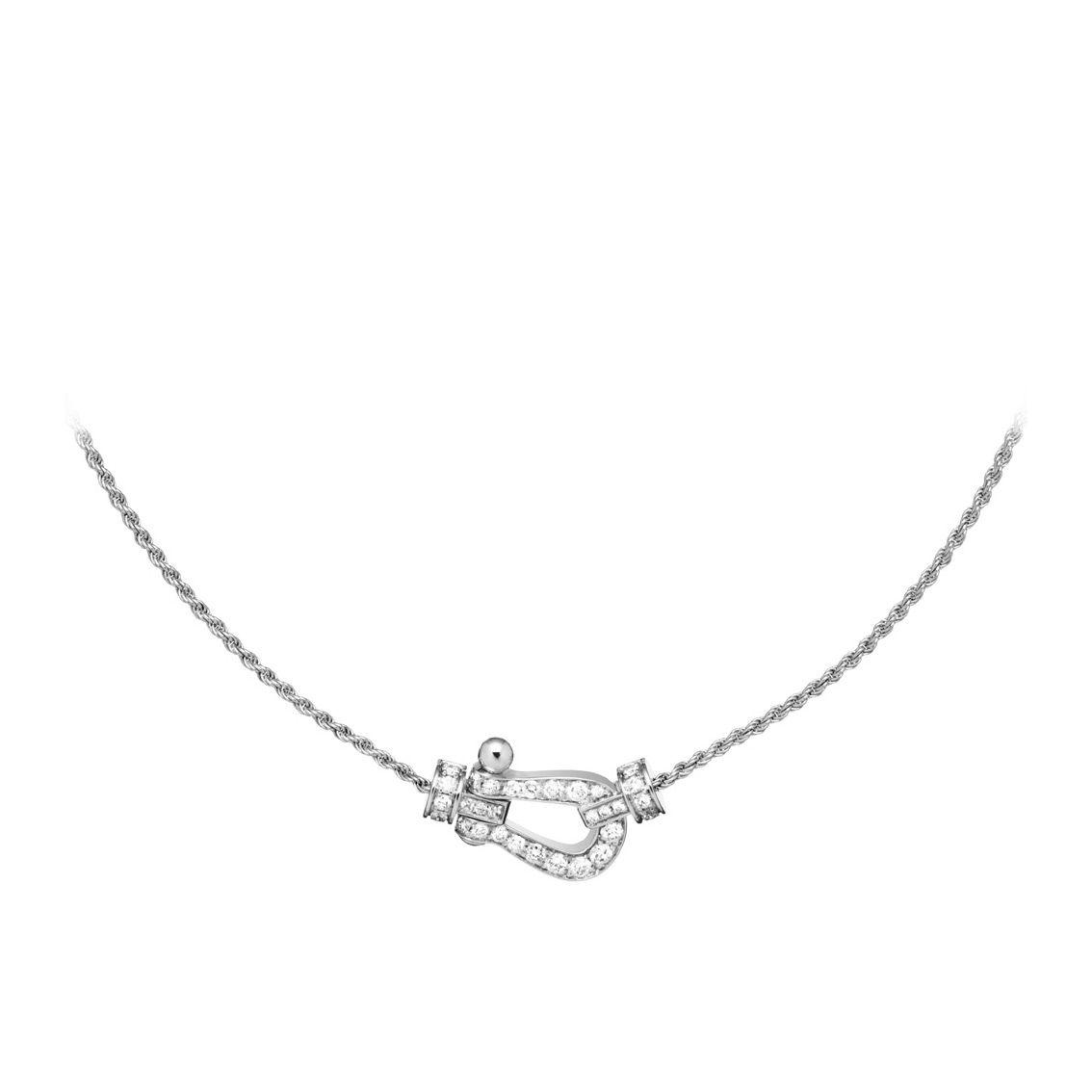 Collier FRED Force 10 moyen modèle en Or blanc et Diamant vue 1
