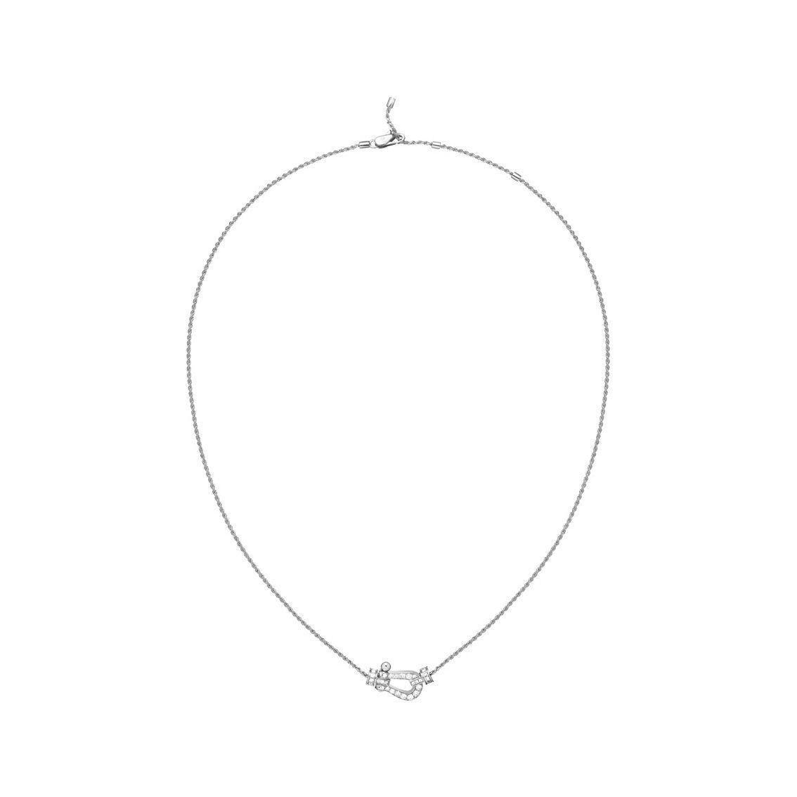 Collier FRED Force 10 moyen modèle en Or blanc et Diamant vue 2