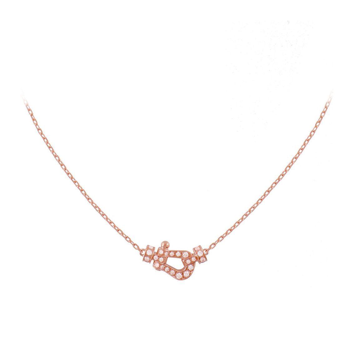 Collier FRED Force 10 petit modèle en Or rose et Diamant vue 2
