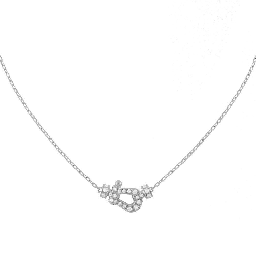 Collier FRED Force 10 en or blanc et diamants vue 1