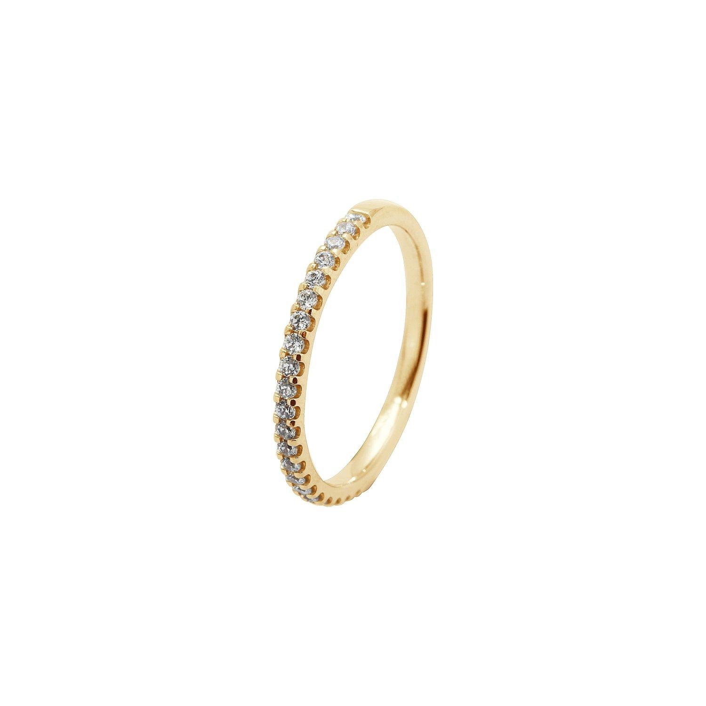 Alliance demi tour en or jaune et diamants de 0.25ct