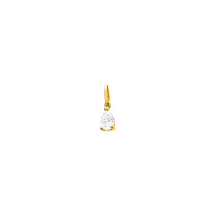 Pendentif en or jaune et oxydes de zirconium