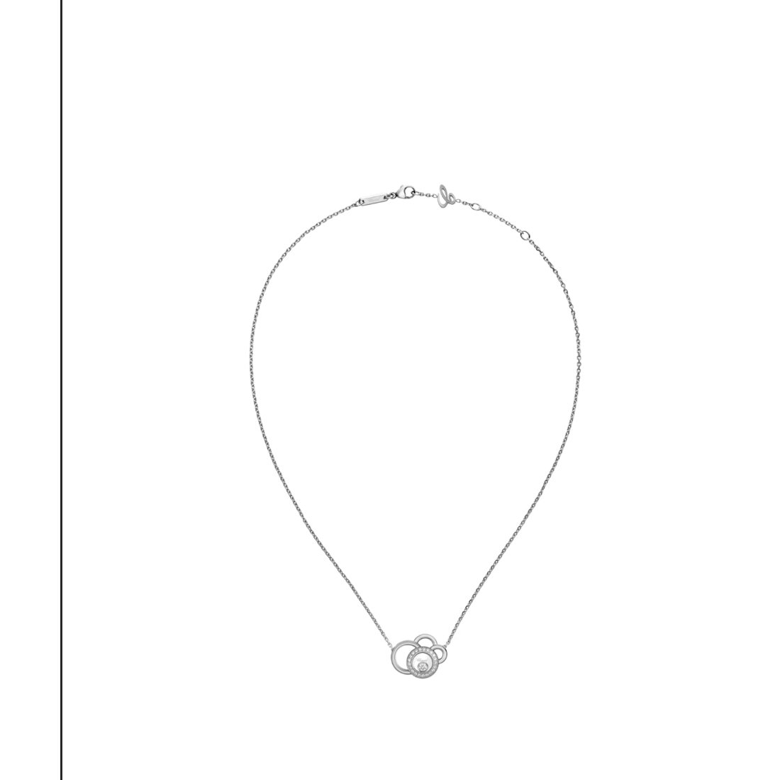 Collier Chopard Happy Dreams en or blanc et diamants vue 4