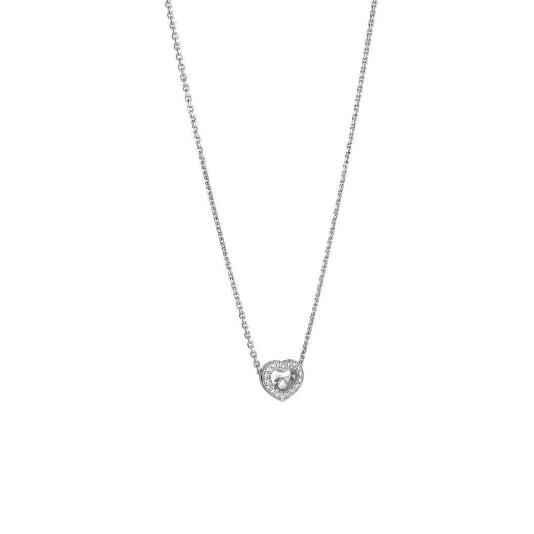 Collier Chopard Happy Diamonds Icons en or blanc et diamants vue 2