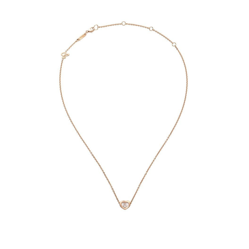 Collier Chopard Happy Diamonds Icons en or rose et diamants vue 3
