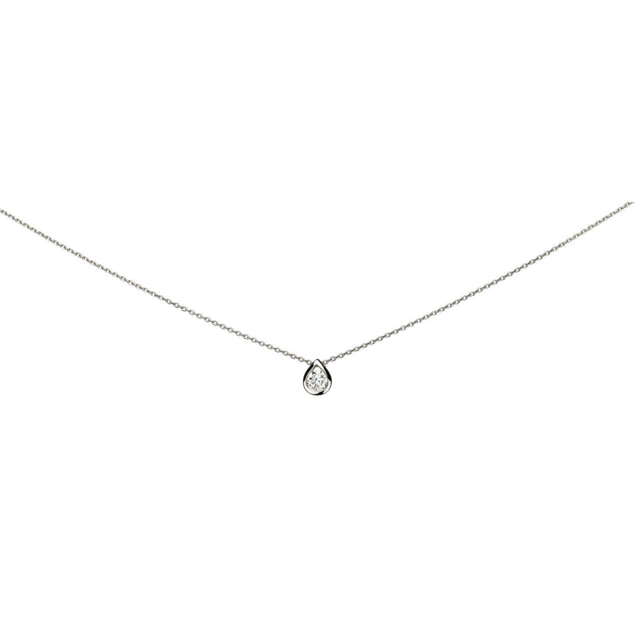 Collier en or blanc et diamant de 0.10ct
