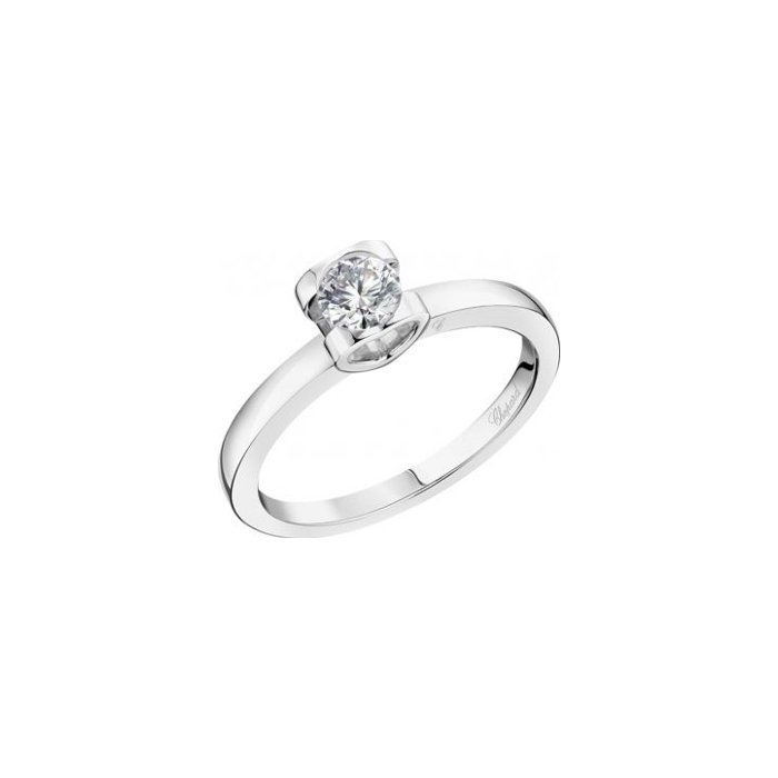 Solitaire Chopard For Love en or blanc et diamant