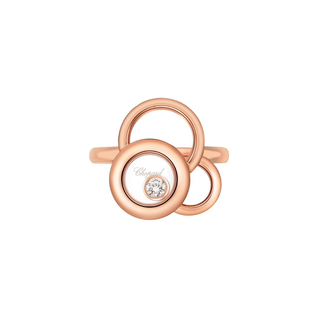Bague Chopard Happy Dreams en or rose et diamant vue 2