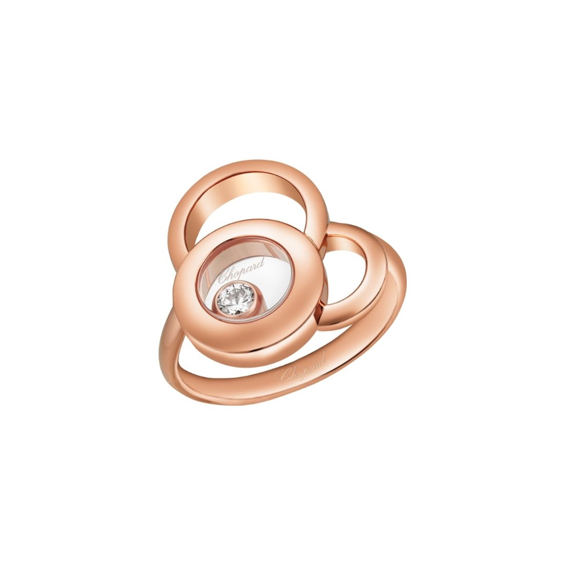 Bague Chopard Happy Dreams en or rose et diamant vue 1