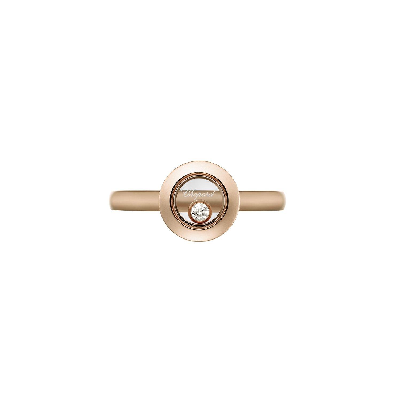 Bague Chopard Happy Diamonds Icons en or rose et diamant vue 2