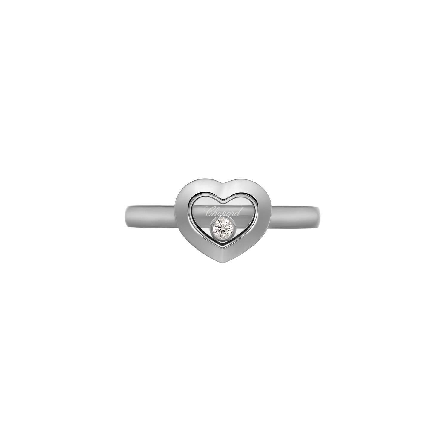 Bague Chopard Happy Diamonds en or blanc et diamant vue 2