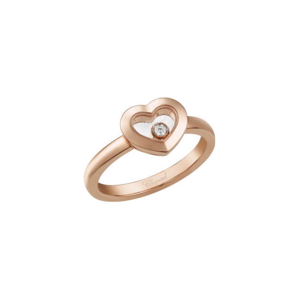 Bague Chopard Happy Diamonds en or rose et diamant vue 1