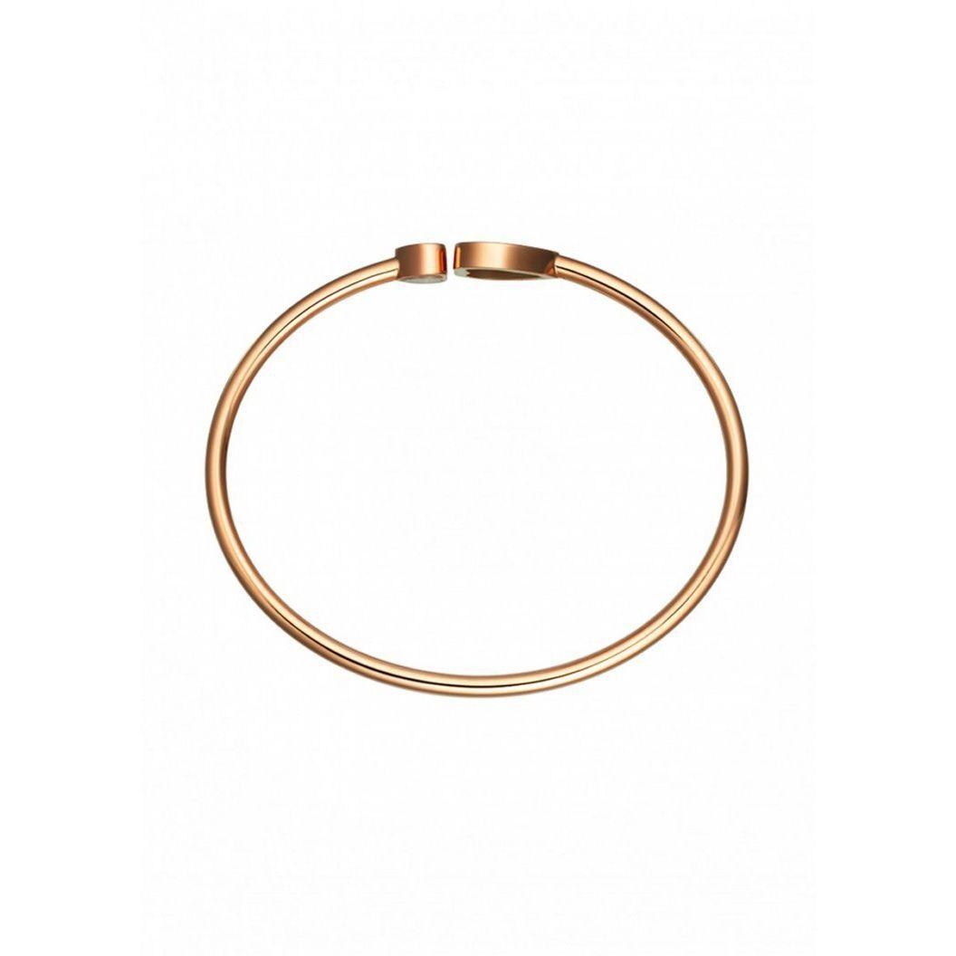 Bracelet Chopard Happy Diamonds Happy Hearts en or rose et diamant, pierre rouge vue 3