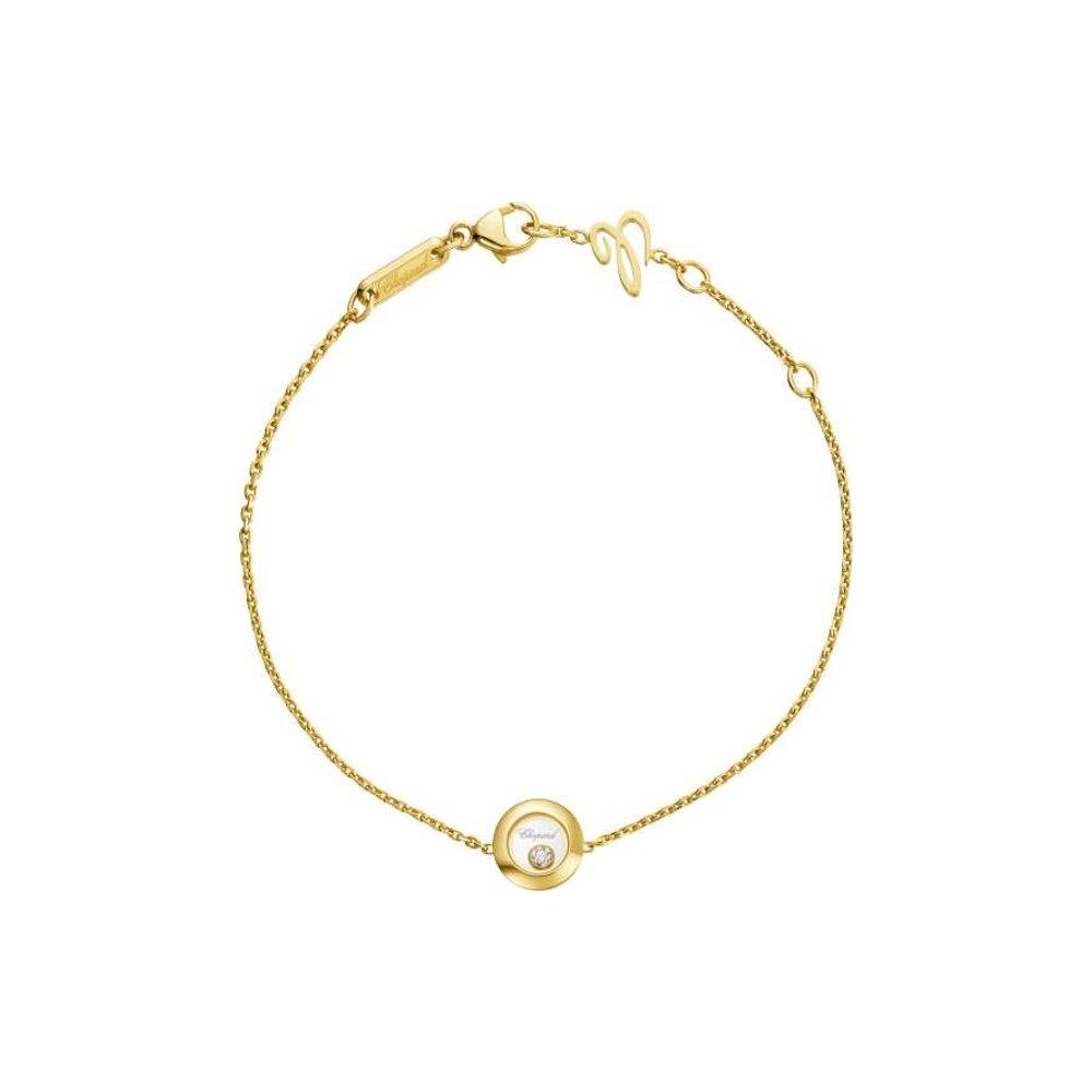 Bracelet Chopard Happy Diamonds Icons en or jaune vue 1