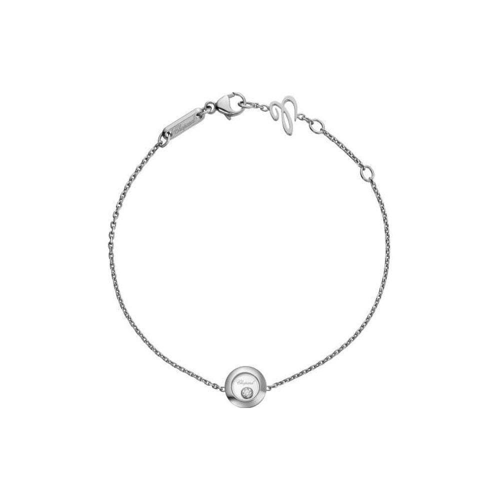 Bracelet Chopard Happy Diamonds Icons en or blanc et diamants vue 1