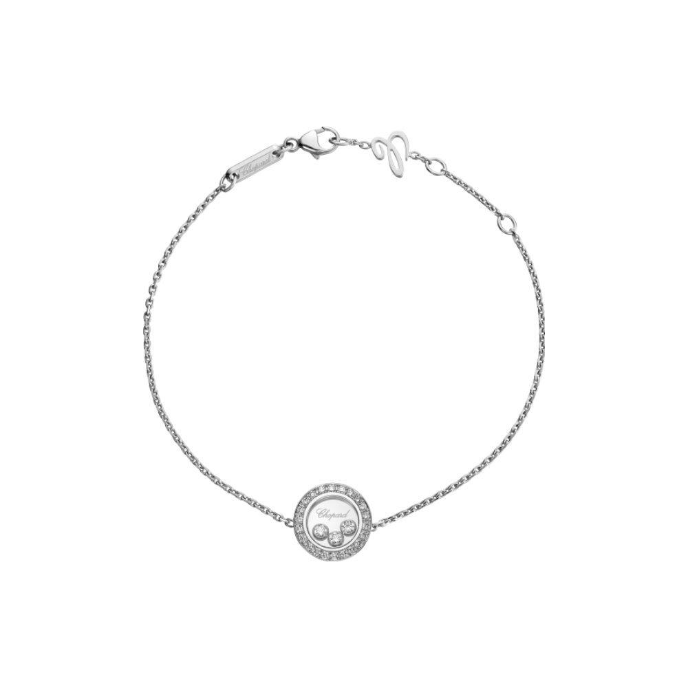 Bracelet Chopard Happy Diamonds en or blanc et diamants vue 1