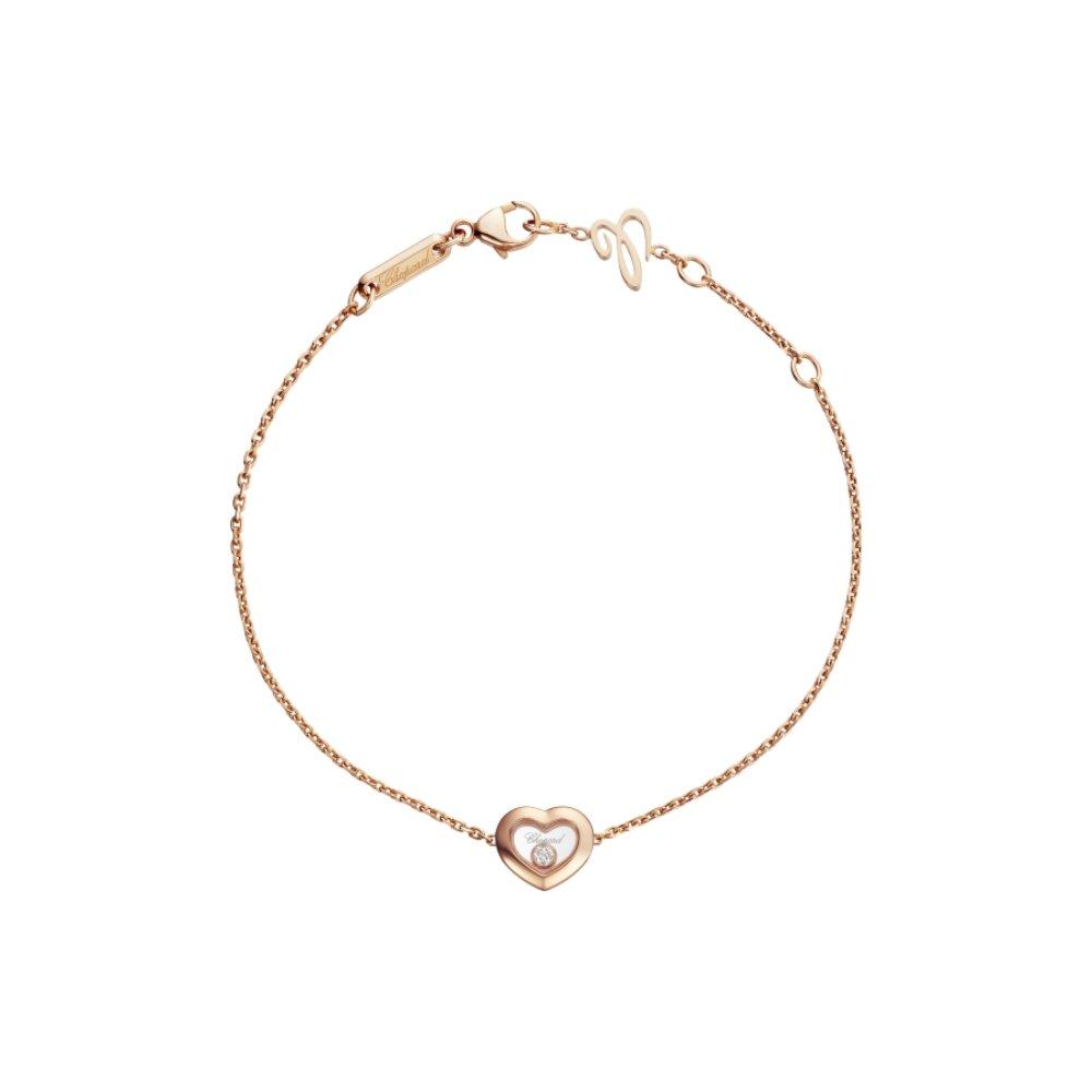 Bracelet Chopard Happy Diamonds en or rose et diamant
