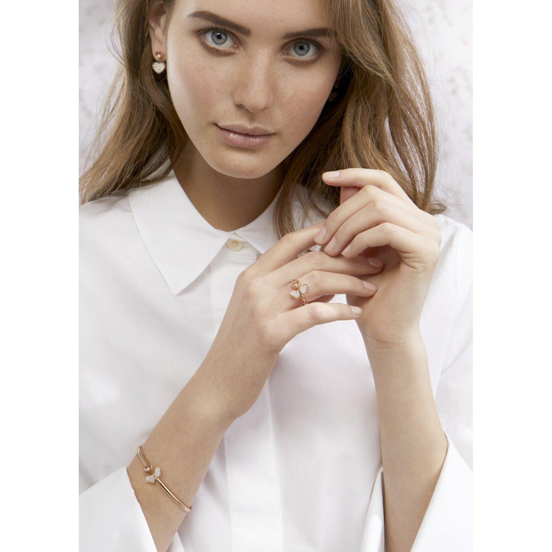 Bracelet Chopard Happy Hearts en or rose et diamant vue 2