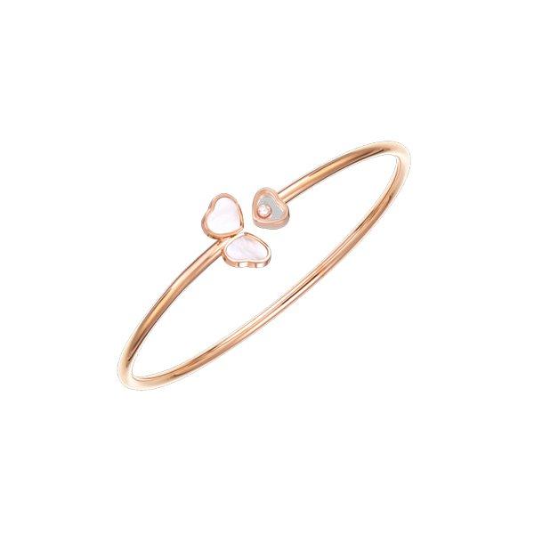 Bracelet Chopard Happy Hearts en or rose et diamant vue 1