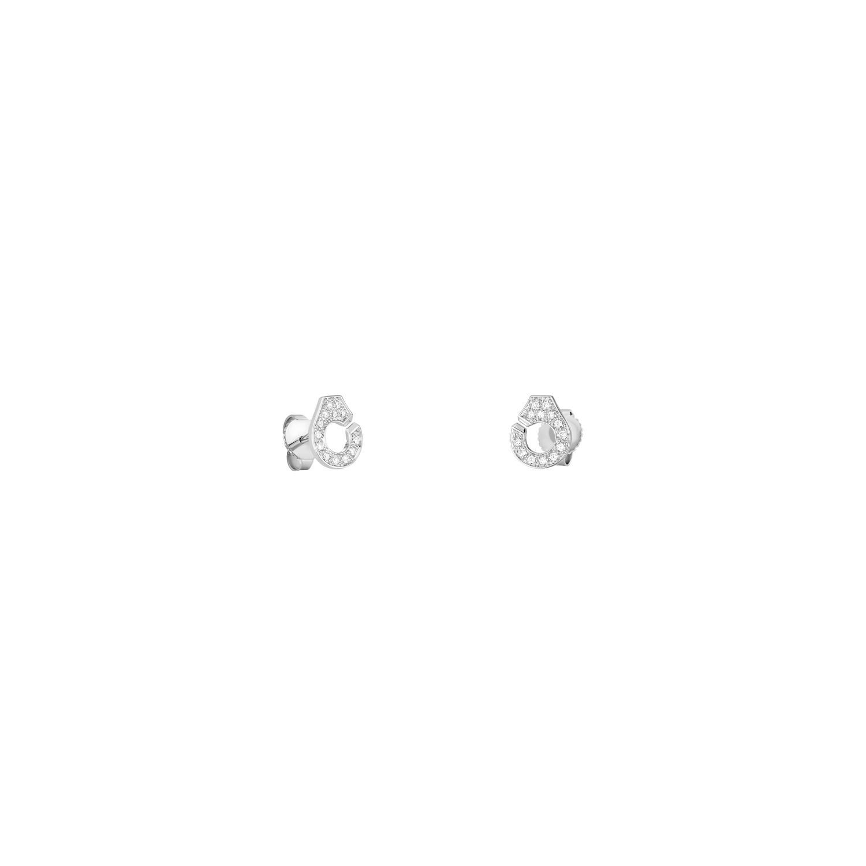 Boucles d'oreilles dinh van Menottes dinh van en Or blanc et Diamant