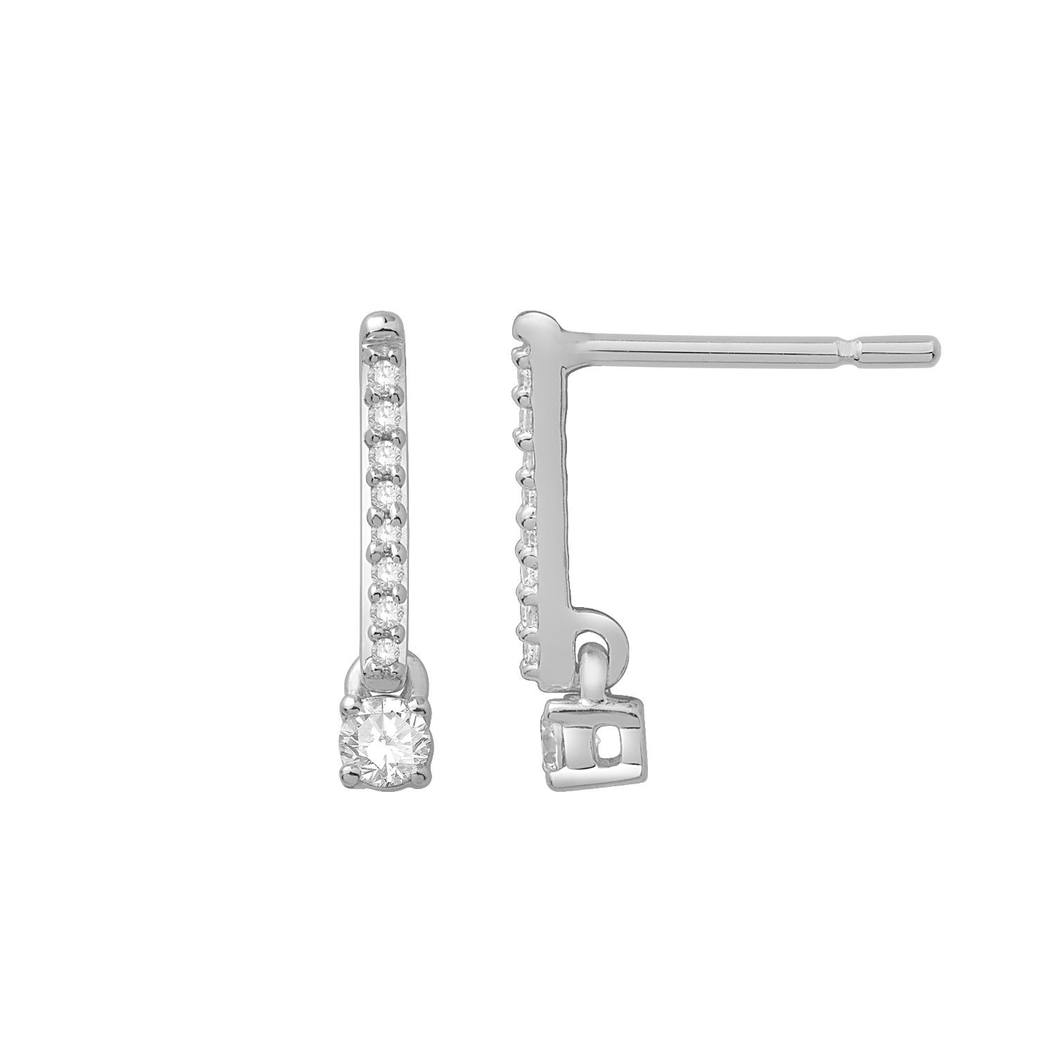 Boucles d'oreilles en or blanc et diamants de 0.19ct